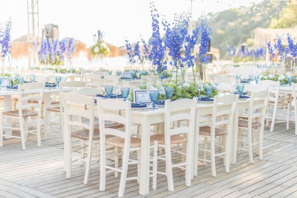 Blue Inspired Christening in Skiathos by Tsveta Christou