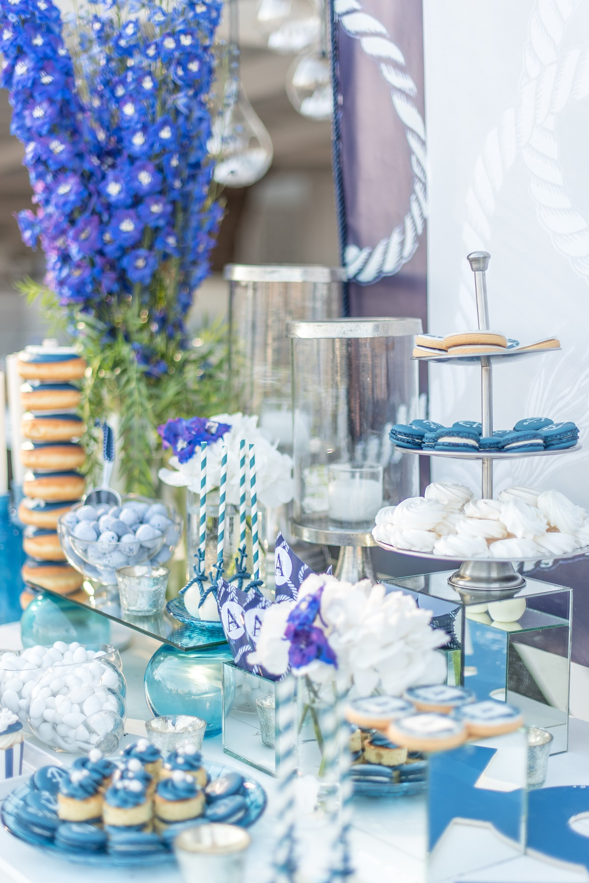 Blue Inspired Christening in Skiathos by Tsveta Christou