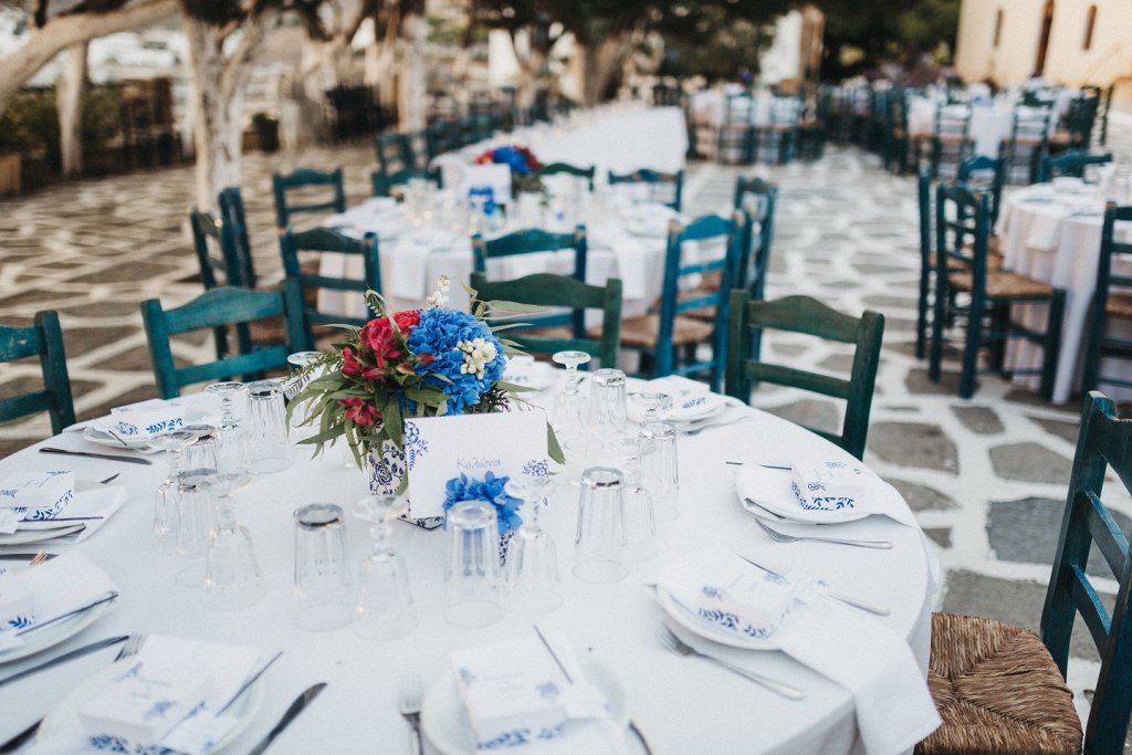Blue Inspired Wedding in Kythnos designed by Tsveta Christou